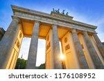 berlin brandenburg gate... | Shutterstock . vector #1176108952