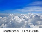 cumulus sea of clouds view from ... | Shutterstock . vector #1176110188