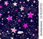 space galaxy constellation... | Shutterstock .eps vector #1176110722