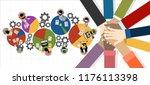 flat design illustration... | Shutterstock .eps vector #1176113398