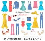 female fashion set. women's...   Shutterstock .eps vector #1176117748