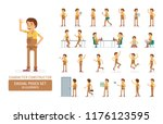 vector young adult man in...   Shutterstock .eps vector #1176123595