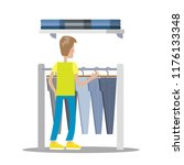 man choosing clothes in the... | Shutterstock .eps vector #1176133348