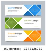 vector abstract banner modern... | Shutterstock .eps vector #1176136792