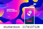 color gradient site background... | Shutterstock .eps vector #1176137128