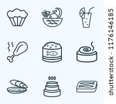 food icons line style set with... | Shutterstock .eps vector #1176146185