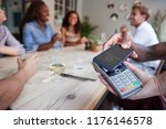 close up of customer in... | Shutterstock . vector #1176146578