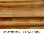 galvanized sheet.old metal... | Shutterstock . vector #1176147358