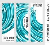 set of abstract vertical header ... | Shutterstock .eps vector #1176148108