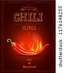 chili red pepper in fire hot... | Shutterstock .eps vector #1176148255