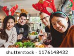 group of young people... | Shutterstock . vector #1176148432