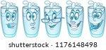 water glass. beverage drink... | Shutterstock .eps vector #1176148498