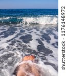 beautiful female legs in the... | Shutterstock . vector #1176148972