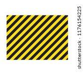 warning striped rectangular... | Shutterstock .eps vector #1176154225