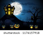 halloween pumpkin and spooky... | Shutterstock . vector #1176157918