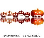 Jack O Lantern Pumpkins With...