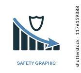 safety decrease graphic icon....