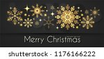 elegant christmas background... | Shutterstock .eps vector #1176166222