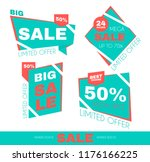 sale sticker set. special offer ... | Shutterstock .eps vector #1176166225