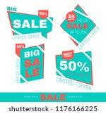 sale sticker set. special offer ... | Shutterstock .eps vector #1176166225