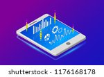 analytics information on tablet.... | Shutterstock .eps vector #1176168178