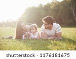 happy family  father of mother... | Shutterstock . vector #1176181675