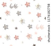 decorative trendy seamless... | Shutterstock .eps vector #1176182758
