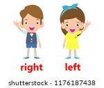 opposite left and right  girl... | Shutterstock .eps vector #1176187438