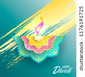 happy diwali. paper graphic of... | Shutterstock .eps vector #1176191725