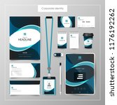 corporate identity template... | Shutterstock .eps vector #1176192262