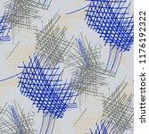 various pen hatches. seamless... | Shutterstock .eps vector #1176192322