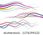 set of abstract color  curved... | Shutterstock . vector #1176194122