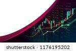 stock market or forex trading... | Shutterstock . vector #1176195202