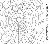 cobweb  isolated on white... | Shutterstock .eps vector #1176198025