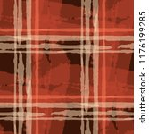 tartan. seamless grunge pattern ... | Shutterstock .eps vector #1176199285