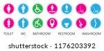 wc toilet day bathroom restroom ... | Shutterstock .eps vector #1176203392