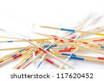 wood sticks on white background | Shutterstock . vector #117620452
