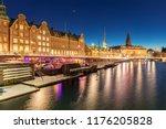 copenhagen cityscape at... | Shutterstock . vector #1176205828