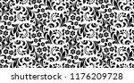 flower pattern. seamless white... | Shutterstock .eps vector #1176209728