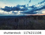 landscape with dead forest on...   Shutterstock . vector #1176211108
