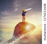 aspire to prestigious roles by... | Shutterstock . vector #1176211648