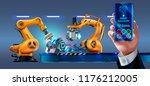 businessman management smart... | Shutterstock .eps vector #1176212005