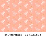 seamless pattern with christmas ... | Shutterstock . vector #117621535
