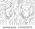 coloring the antistress with an ... | Shutterstock .eps vector #1176215572