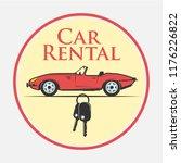 car rental icon in vintage... | Shutterstock .eps vector #1176226822