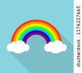 rainbow icon. flat illustration ... | Shutterstock . vector #1176227665