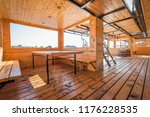 interior of wooden modern... | Shutterstock . vector #1176228535