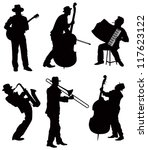Musicians silhouettes. Vector