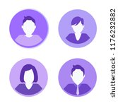 social network people isolated... | Shutterstock .eps vector #1176232882