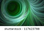 Green Abstract Circle Fractal...